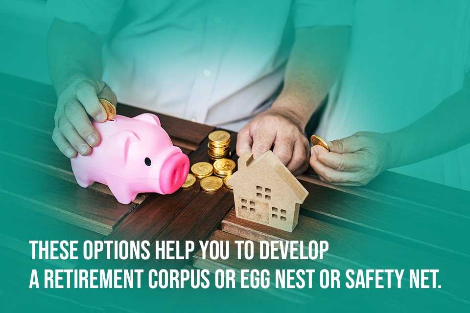These options just require you to develop a retirement corpus or egg nest or safety net.
