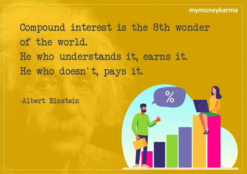 Compound interest is the 8th wonder of the world. He who understands it, earns it. He who doesn't, pays it. - Albert Einstein